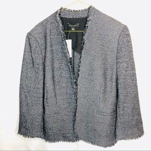 Ann Taylor Tween Blazer Jacket Black size 12